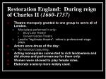 restoration england during reign of charles ii 1660 1737