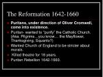 the reformation 1642 1660