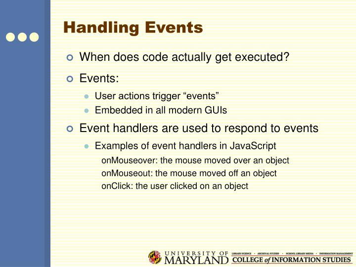 Handling Events