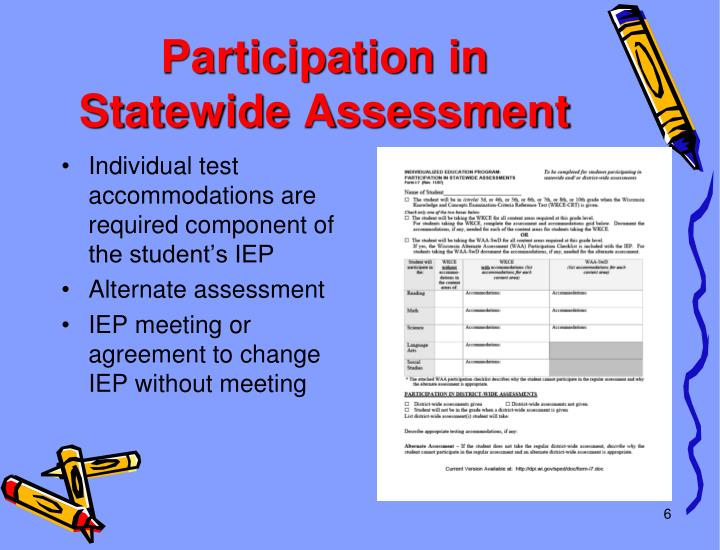 Participation in Statewide Assessment