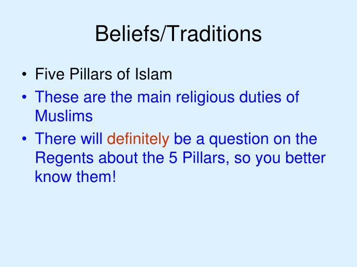 Beliefs/Traditions