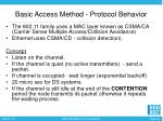 basic access method protocol behavior