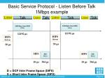 basic service protocol listen before talk 1mbps example