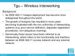 tgu wireless interworking
