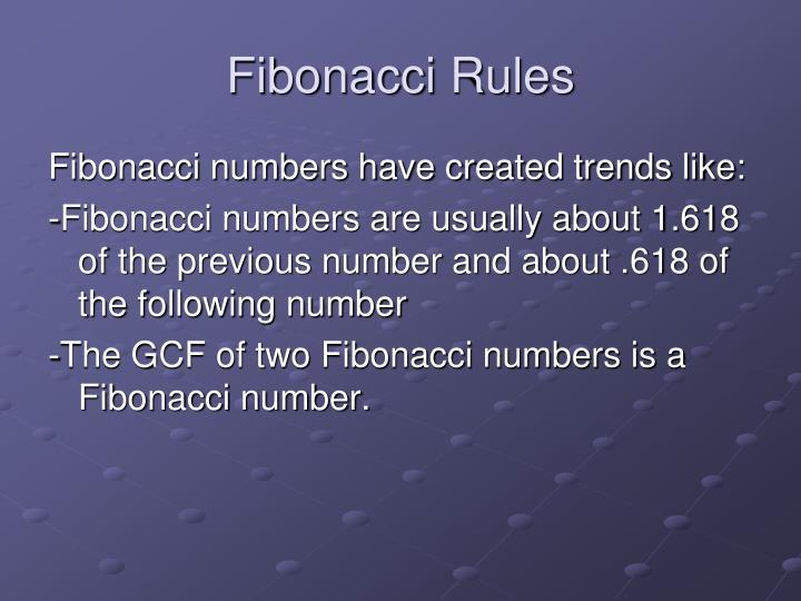 Fibonacci Rules