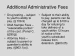 additional administrative fees