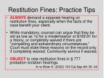 restitution fines practice tips