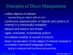 principles of direct manipulation