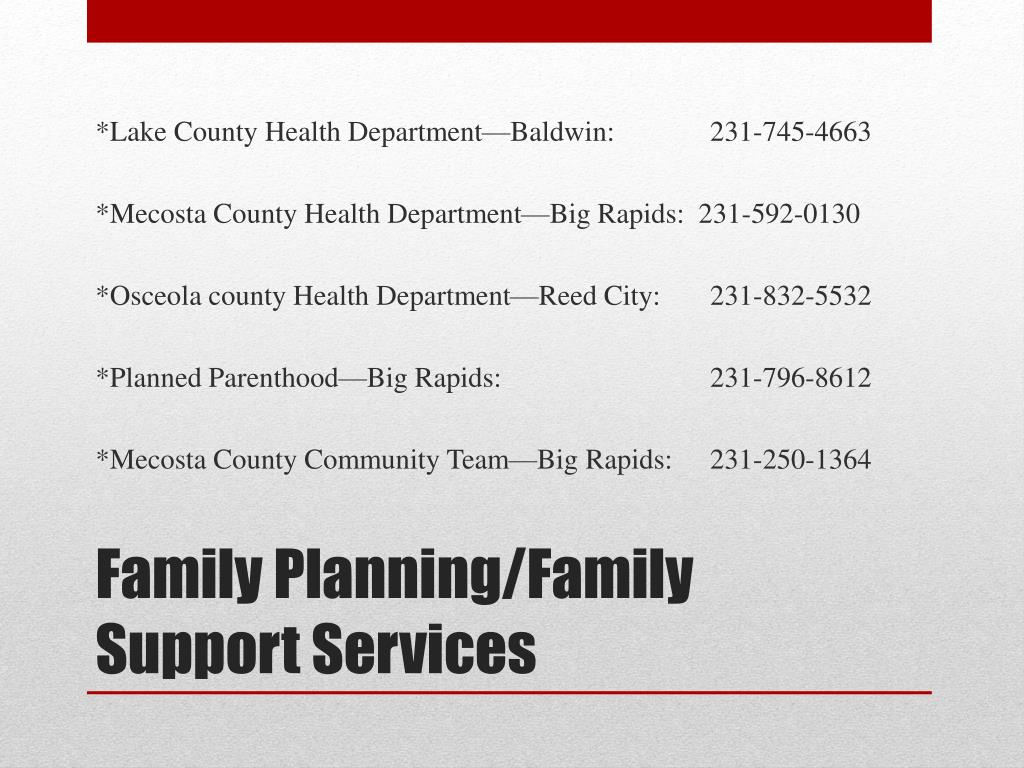 PPT - Family Resource Guide PowerPoint Presentation - ID:6792881