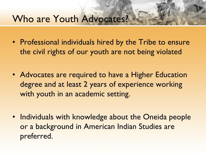 Who are Youth Advocates?