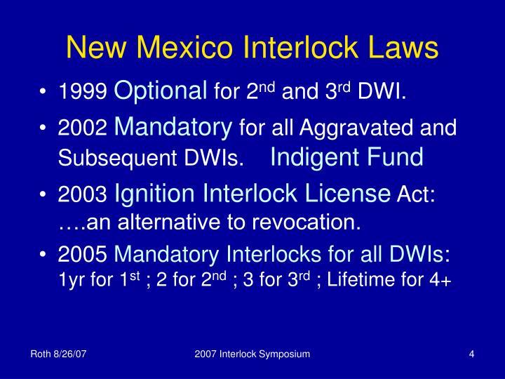 New Mexico Interlock Laws