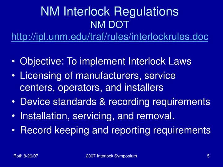 NM Interlock Regulations