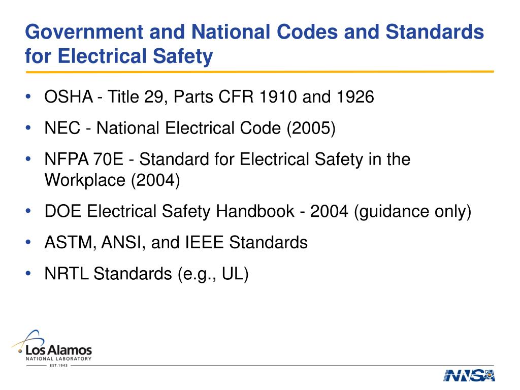 PPT - Electrical Codes and Standards for R&D PowerPoint Presentation