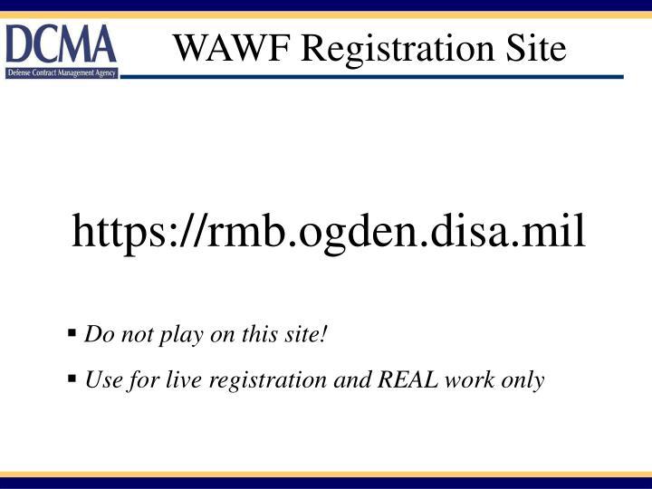WAWF Registration Site