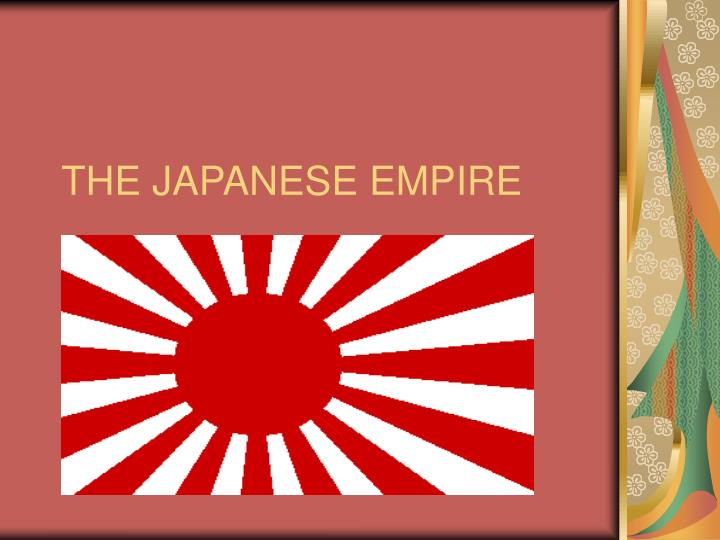 the japanese empire n.
