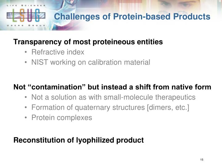 Challenges of Protein-based Products