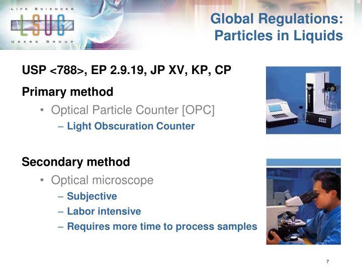 Global Regulations: