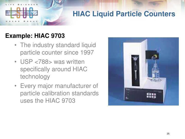 HIAC Liquid Particle Counters