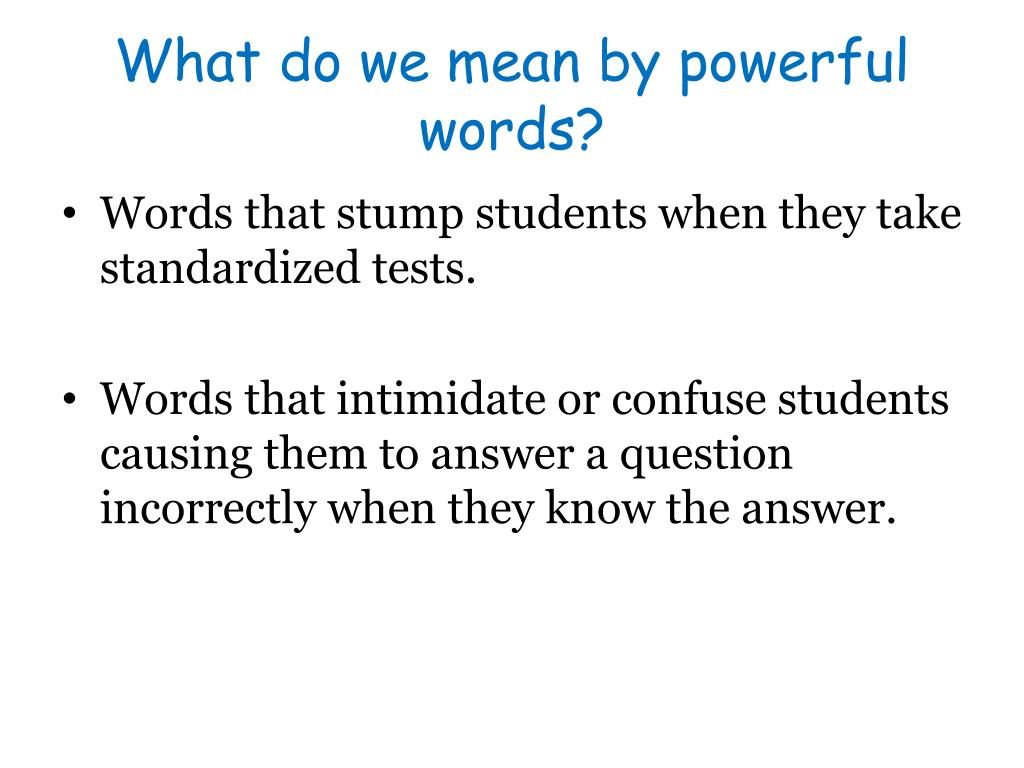 PPT - 12 Powerful Words PowerPoint Presentation, free