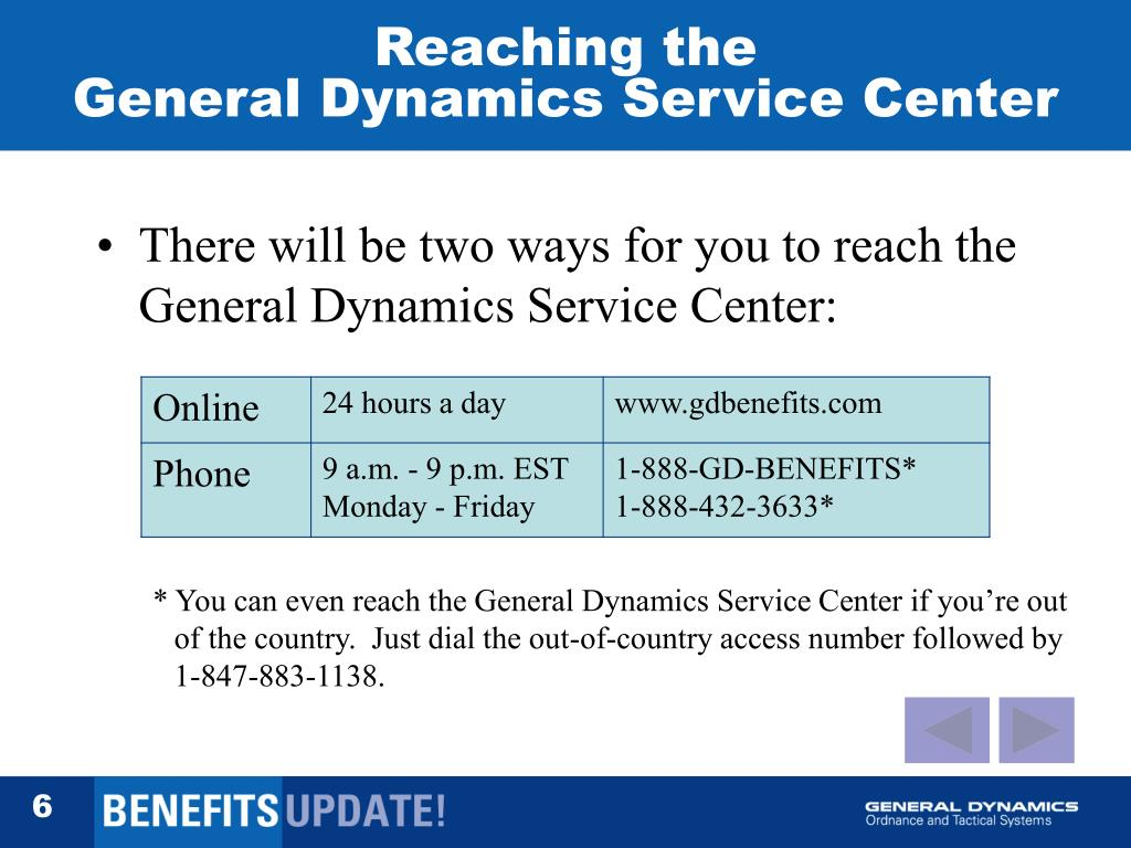 PPT - Moving to the General Dynamics Service Center A Self