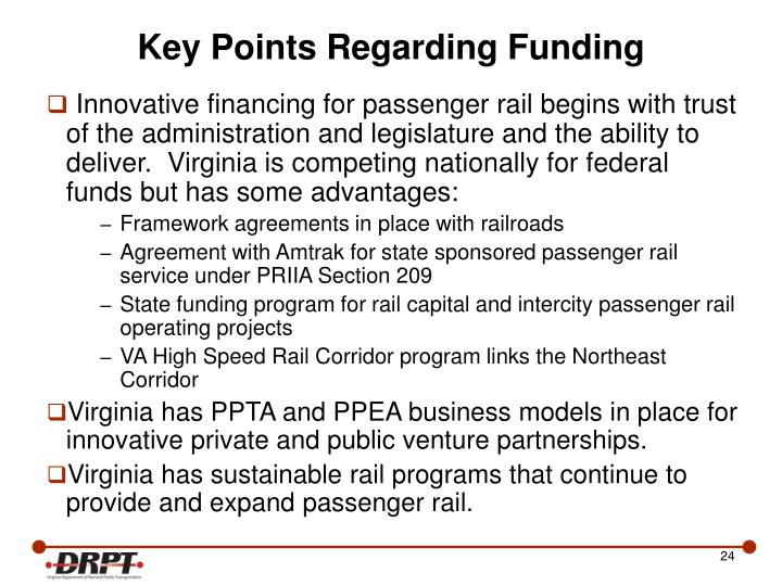 PPT - Virginia's Approach to Innovative Intercity ...
