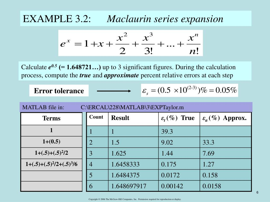 PPT - Approximations and Round-Off Errors Chapter 3 PowerPoint
