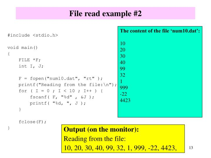 File read example #2