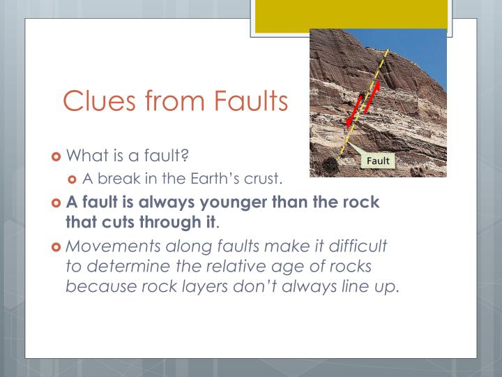 Clues from Faults