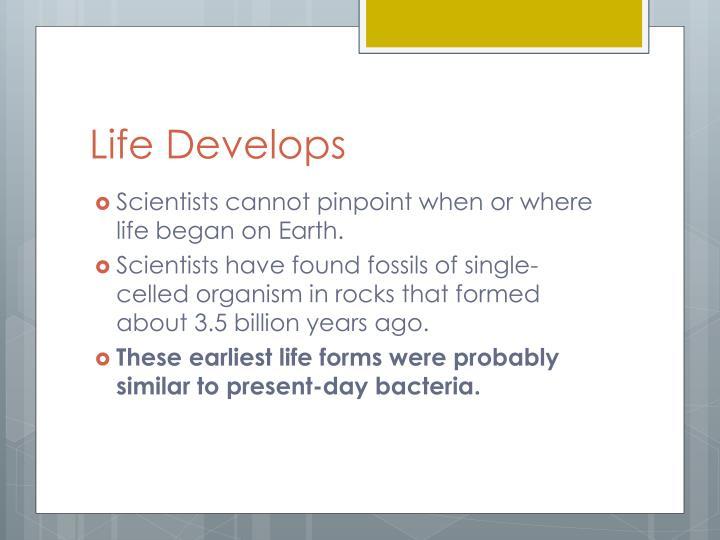 Life Develops