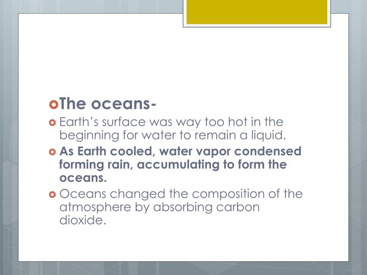 The oceans-