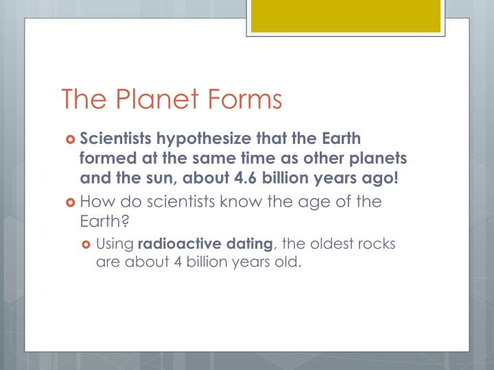The Planet Forms