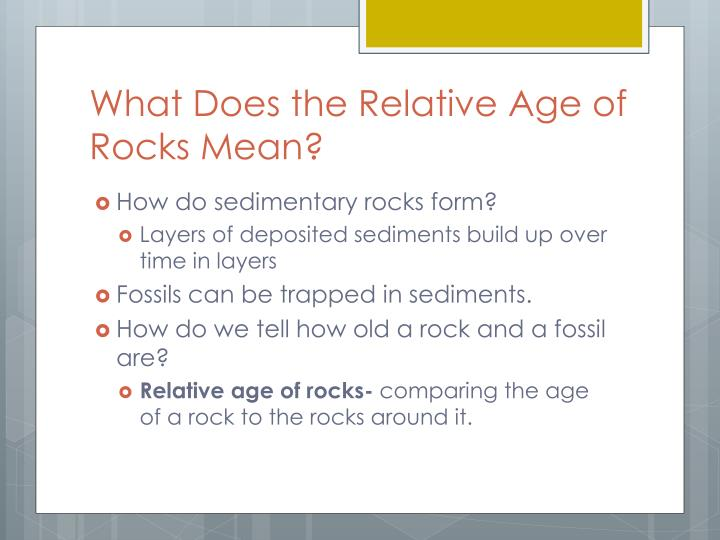 What Does the Relative Age of Rocks Mean?
