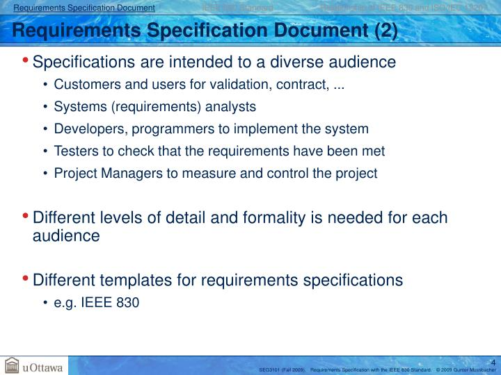 Requirements Specification Document