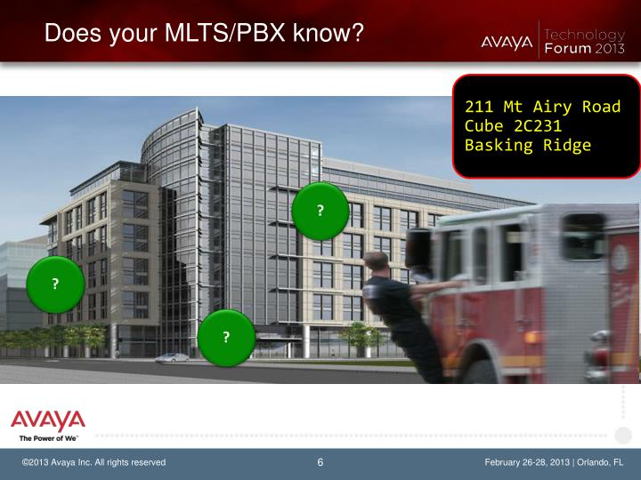 Does your MLTS/PBX know?
