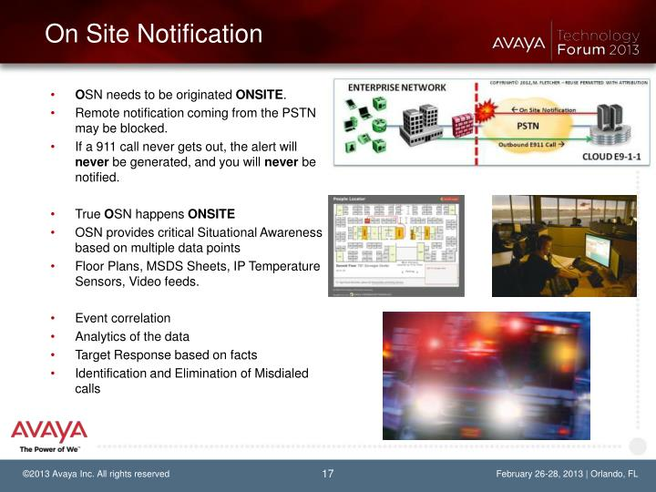On Site Notification