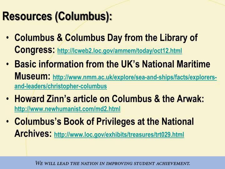 Resources (Columbus):