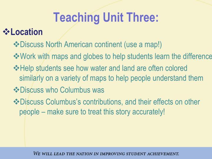 Teaching Unit Three:
