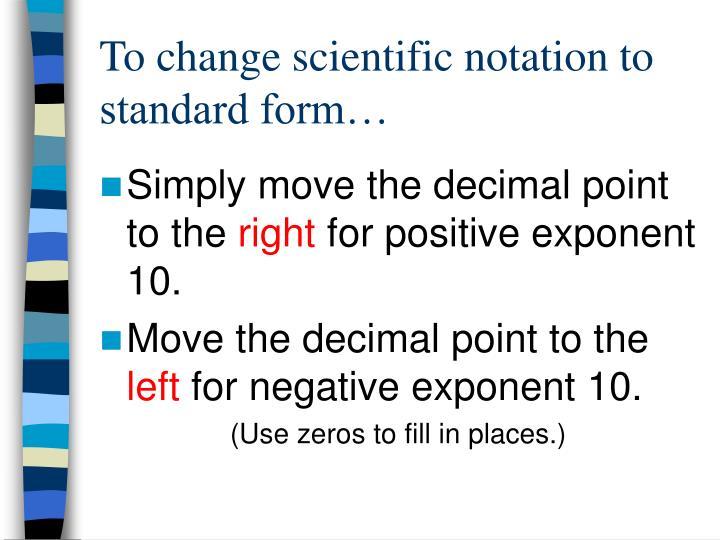 Ppt Scientific Notation Powerpoint Presentation Id6793644