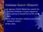 database search ssearch