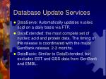 database update services