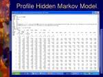 profile hidden markov model
