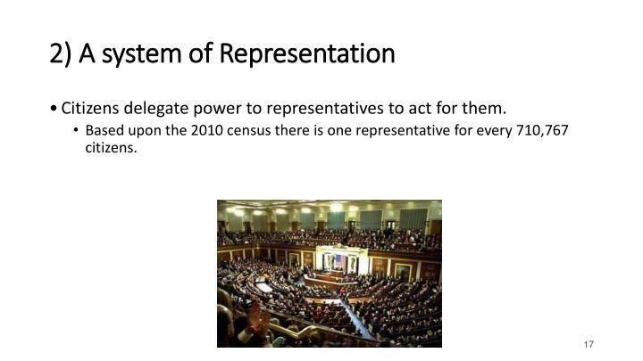2) A system of Representation