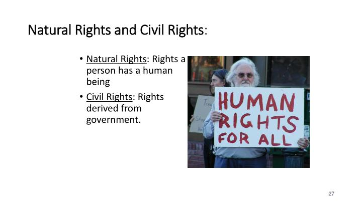 Natural Rights and Civil Rights