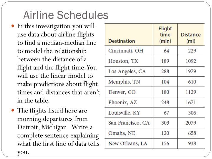 Airline Schedules