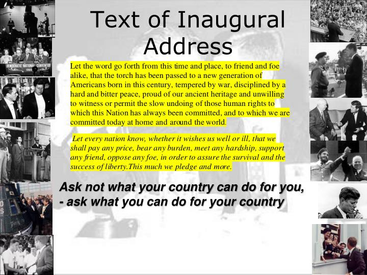 Text of inaugural address