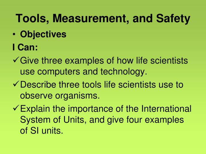 Tools measurement and safety