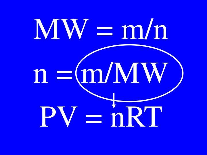 MW = m/n