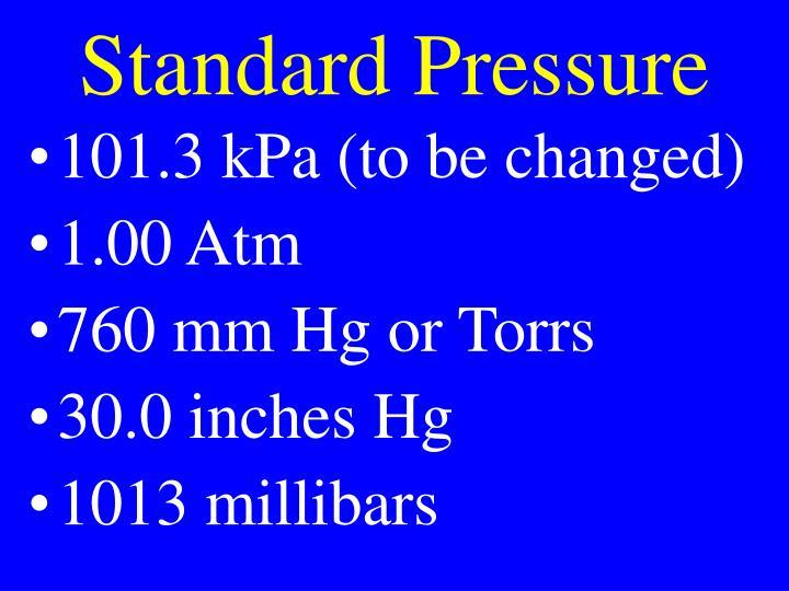 Standard Pressure