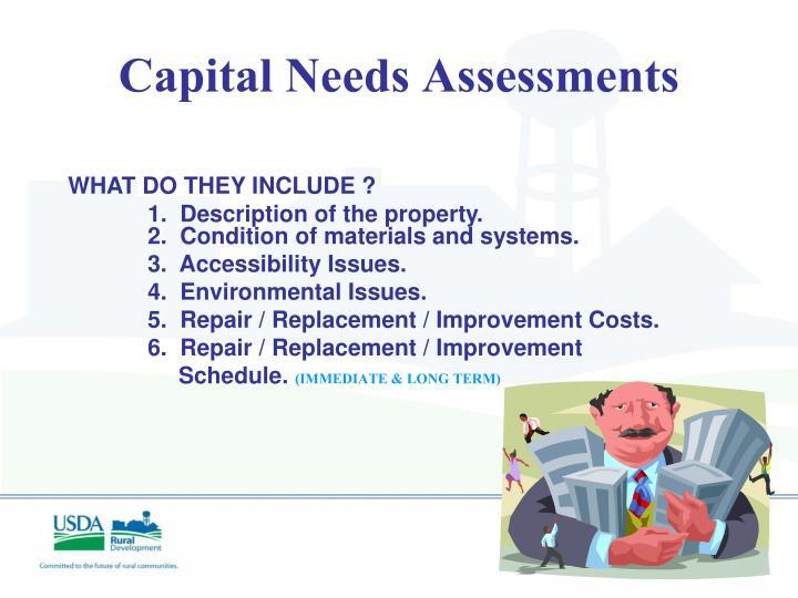 Capital Needs Assessments