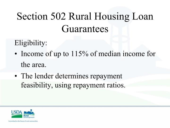 Section 502 Rural Housing